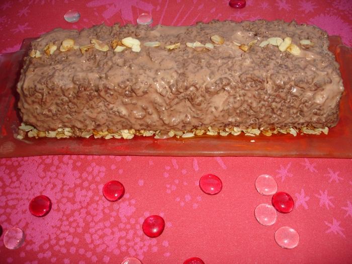 Pavé chocolat-nougatine
