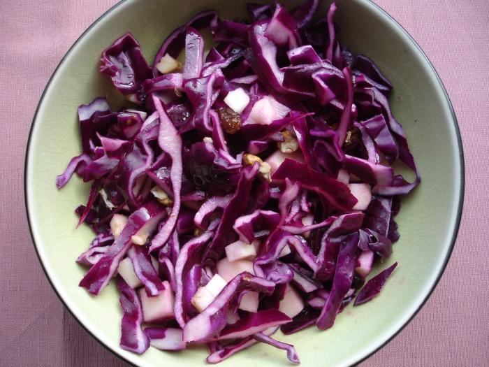 Salade de chou rouge acidulée