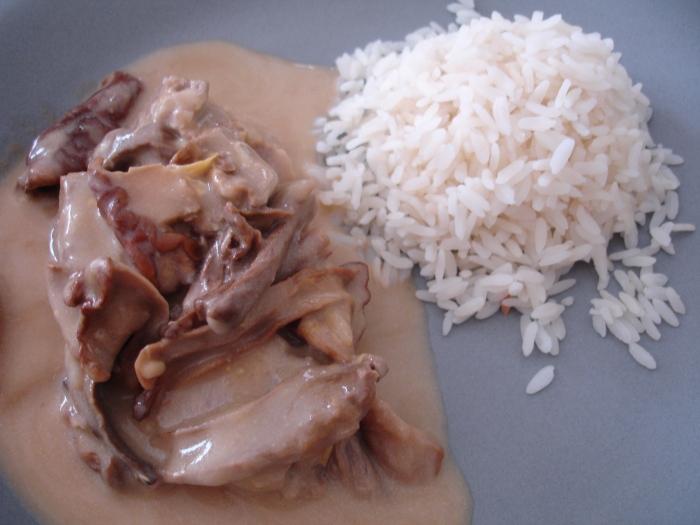 Blanquette de veau aux cèpes
