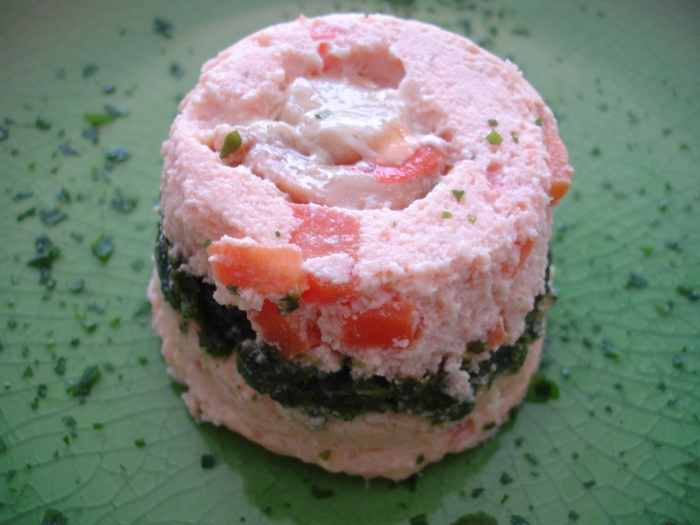 Terrine de saumon aux Saint-Jacques