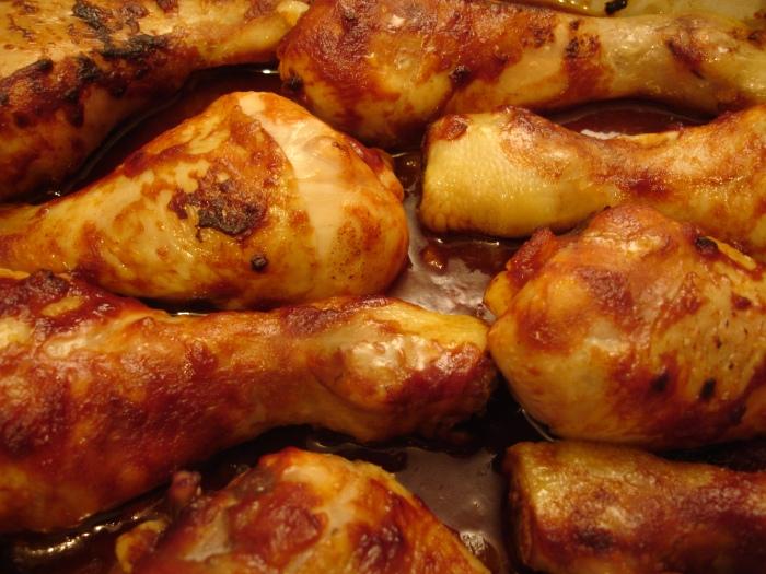 Pilons de poulet caramélisés au sirop d'érable