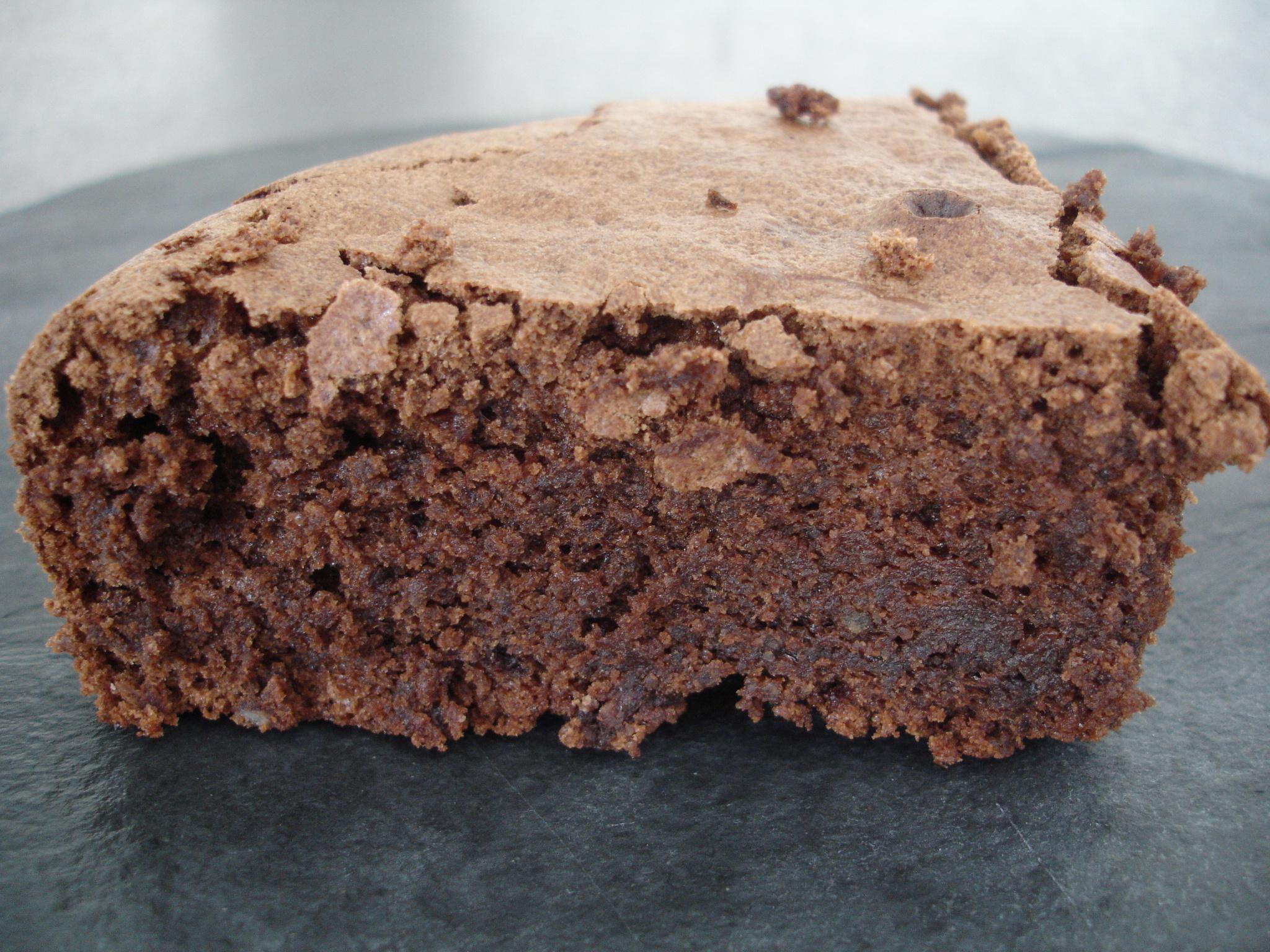 Gateau avec poudre amande et chocolat