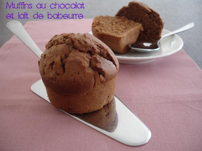 Muffins au chocolat et lait de babeurre