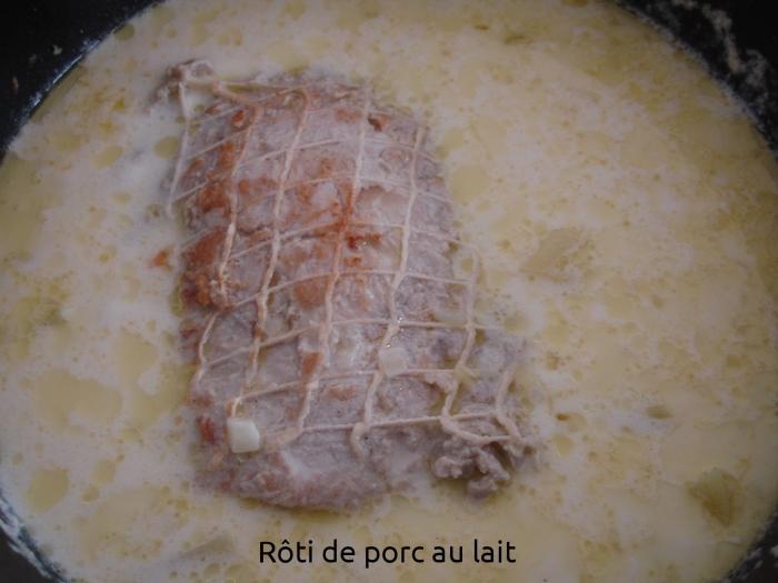 Rôti de porc au lait
