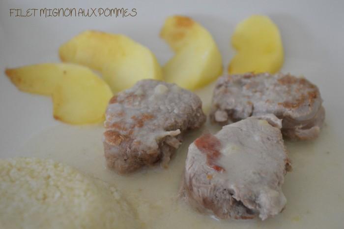 Filet mignon aux pommes