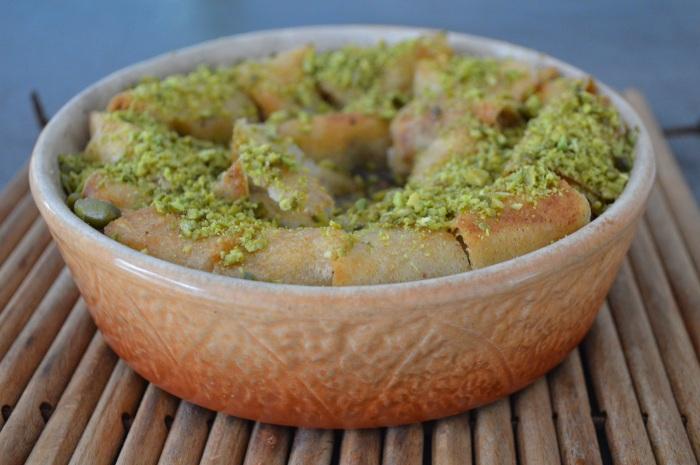 Baklava aux noix et à la pistache