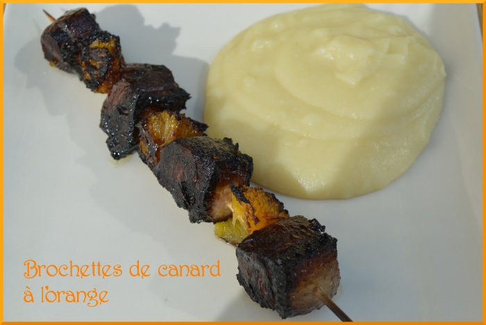 Brochettes de canard à l'orange