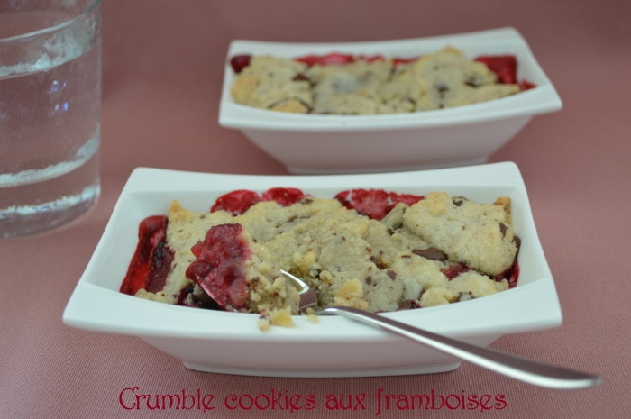 Crumble cookies aux framboises2