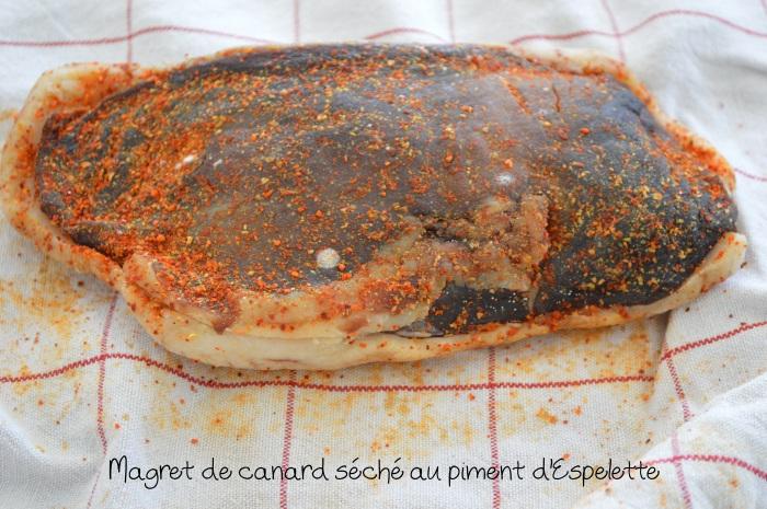 Magret de canard séché au piment d'Espelette