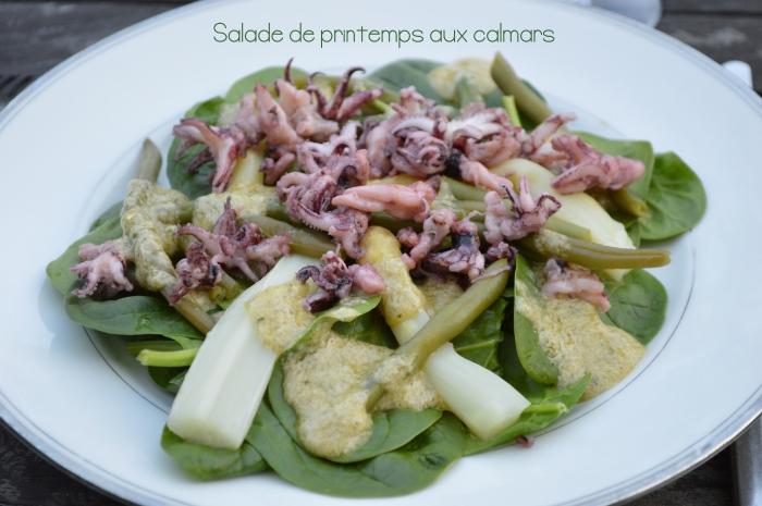 Salade de printemps aux calmars