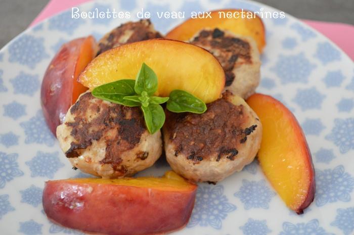 Boulettes de veau aux nectarines