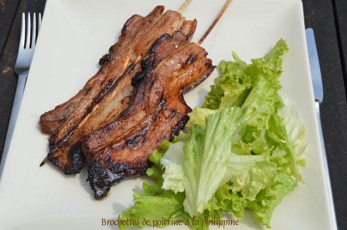 Brochettes de poitrine à la philippine