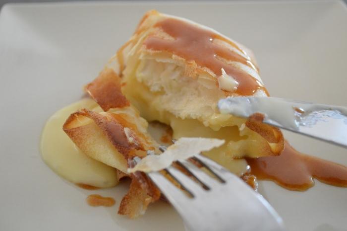 Feuilleté de camembert sauce caramel au beurre salé