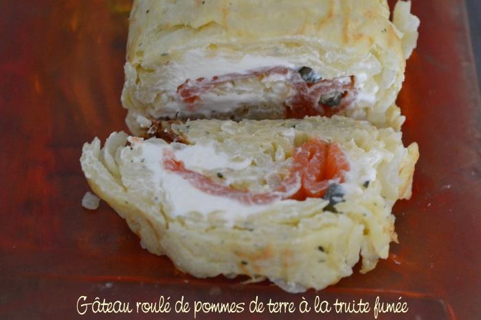 Gâteau roulé de pommes de terre à la truite fumée