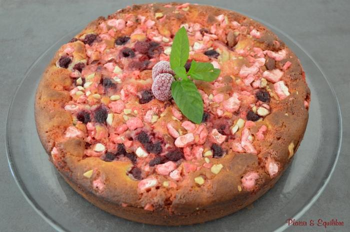 Gâteau lyonnais framboises & pralines roses