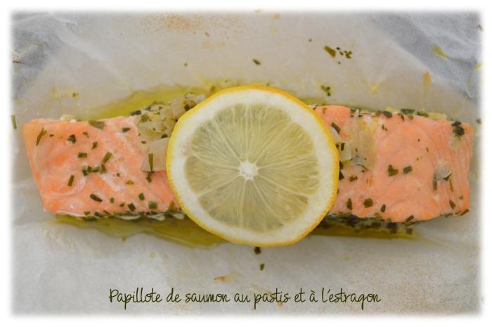 Papillote de saumon au pastis et à l'estragon