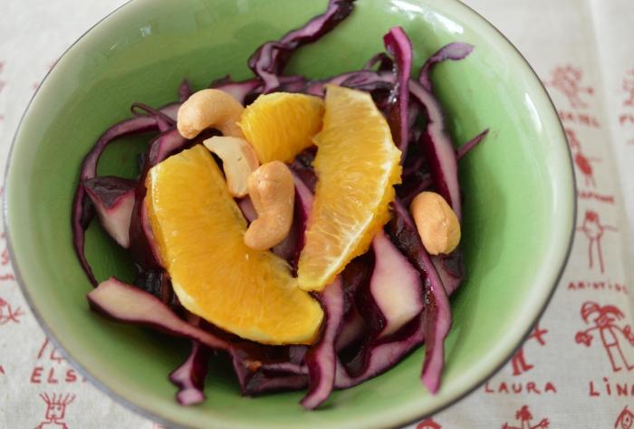 Salade de chou rouge à l'orange
