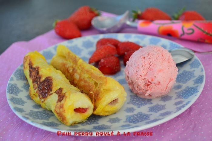 Pain perdu roulé à la fraise