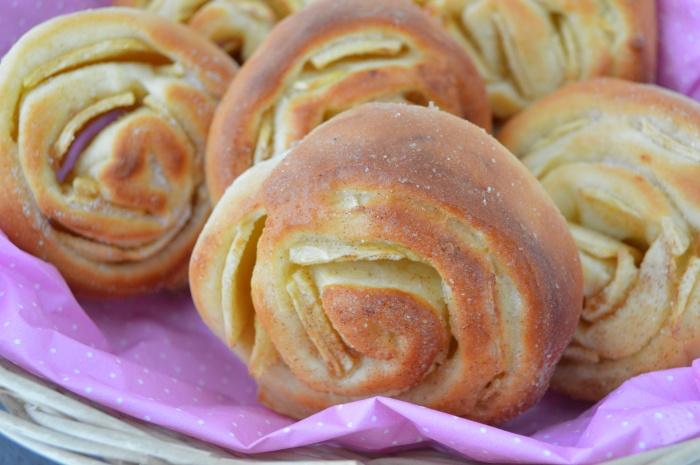 Beignets escargots aux pommes cuits au four