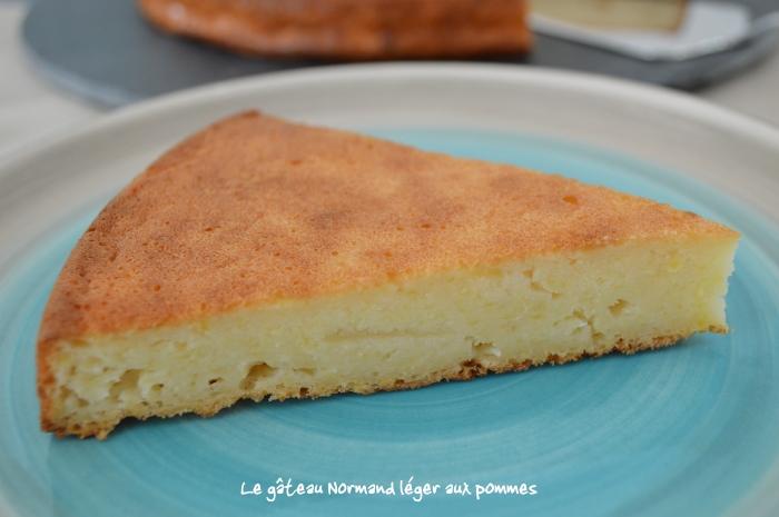 Le gâteau Normand léger aux pommes