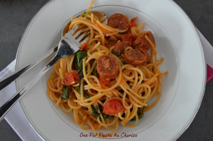 One pot pasta au chorizo
