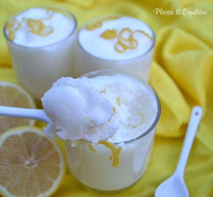 Mousse légère au citron
