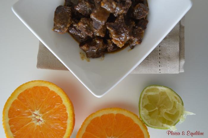Joue de boeuf à l'orange et aux épices