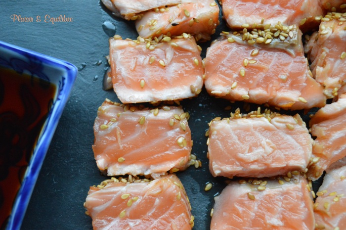 Tataki de saumon au sésame