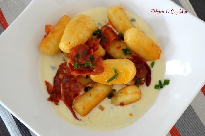 Gnocchis maison au chorizo et parmesan