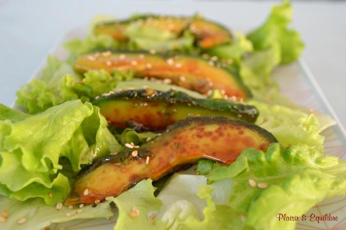 Avocat caramélisé au sirop d'érable