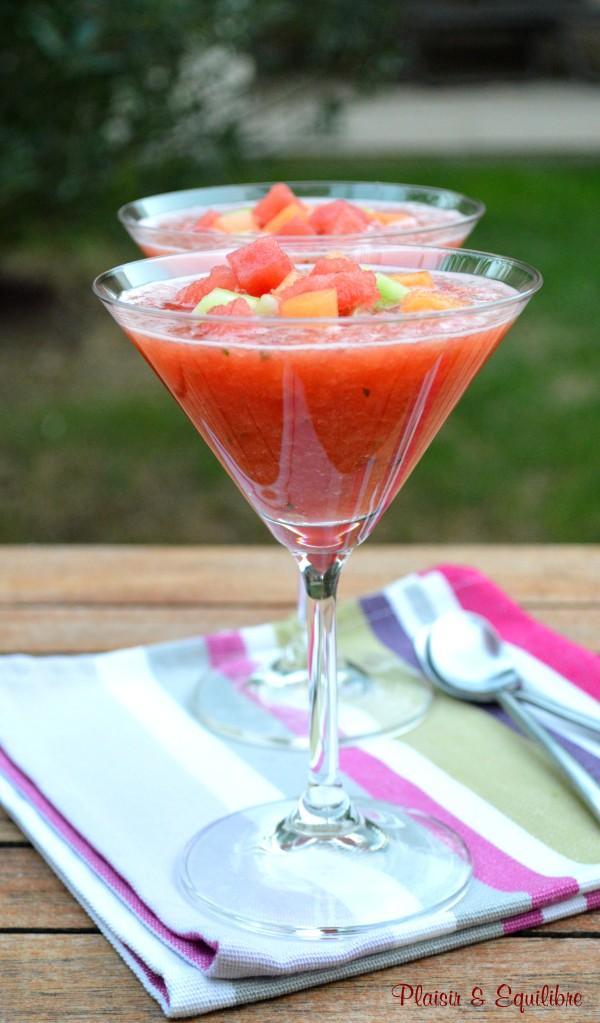 Soupe de pastèque et melon par Alain Ducasse