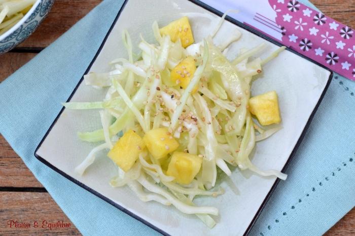 Salade de chou blanc à l'ananas