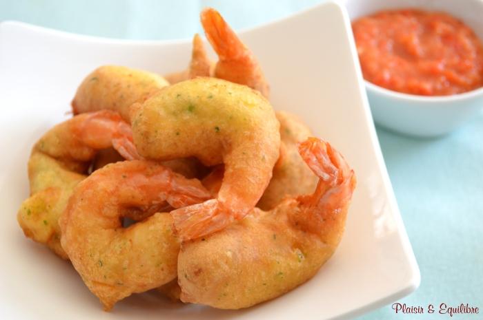 Beignets de crevettes sauce aigre-douce