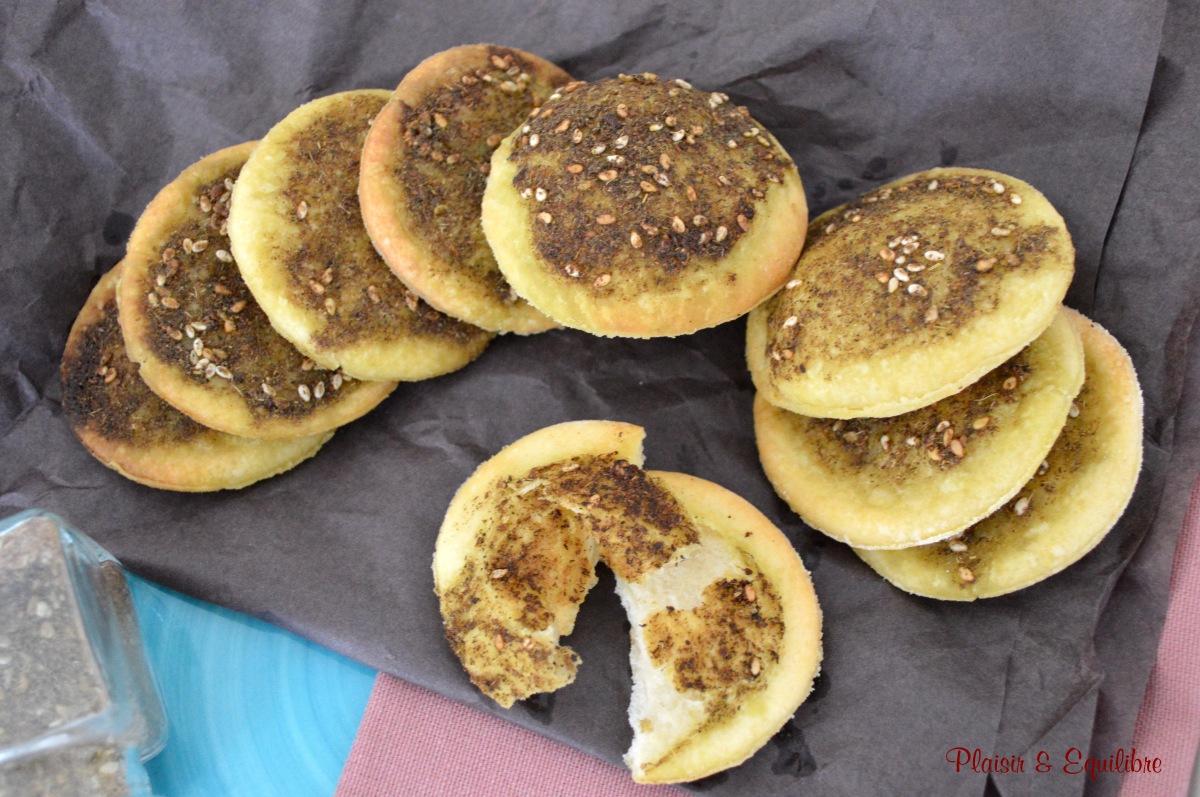 Man'ouché libanais ou pain au zaatar