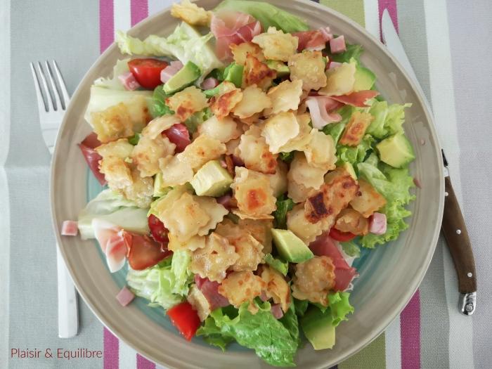 Salade tiède de ravioles