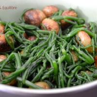 Poêlée de salicornes et de pommes de terre primeur